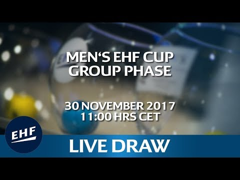 Men's EHF Cup 2017/18 Group Phase Draw