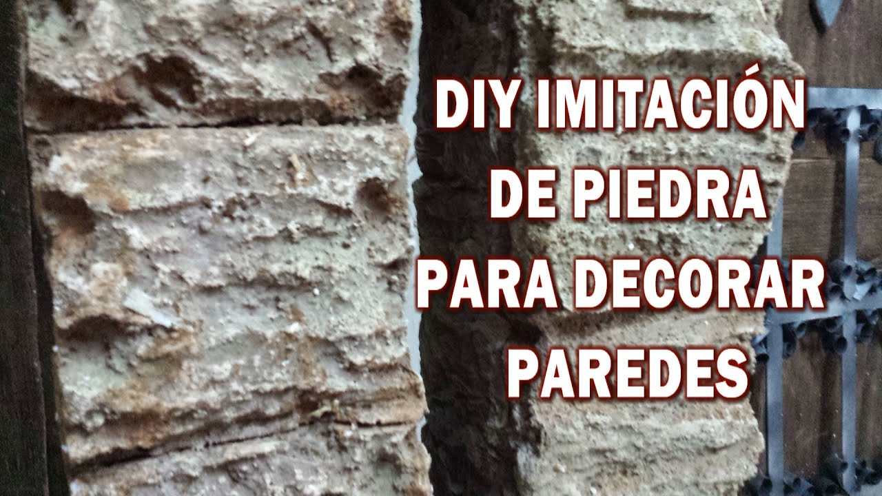 Diy imitaci n de piedra rustica hazlo tu y decora tu casa - Imitacion a piedra para paredes ...
