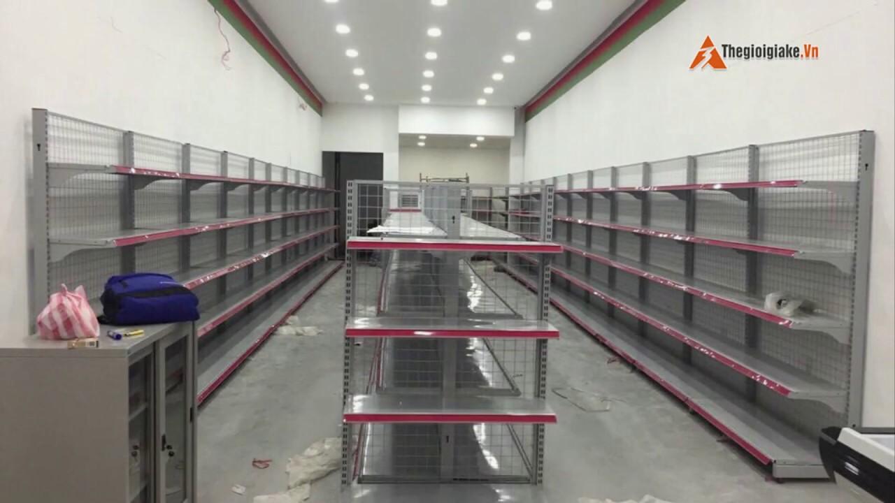 Thanh lý 500 bộ giá kệ siêu thị – Mới 97% – bán nhanh – Giá còn nửa