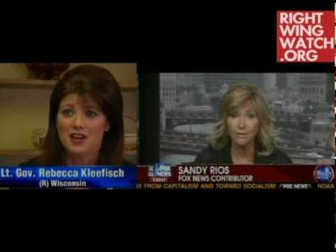 Rebecca Kleefisch Appears on Show with Host Who Compared Unions to Terrorists