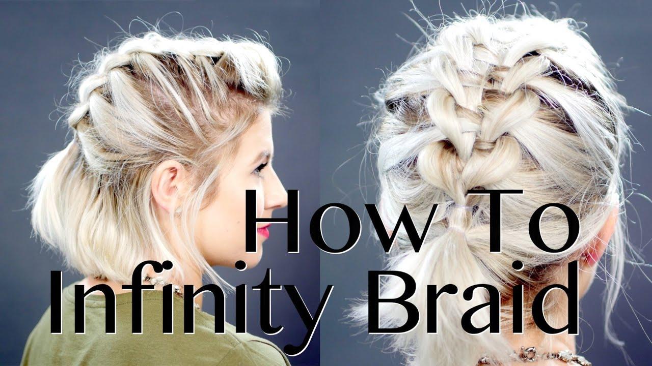 How To: Infinity Braid On Short Hair Tutorial  Milabu