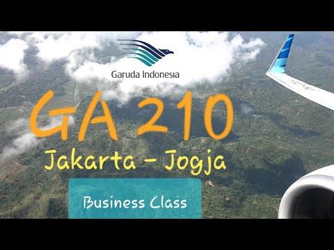 Business Class | GA 210 Garuda Indonesia Jakarta - Jogja Adisucipto | Boeing 737-800 Flight Report