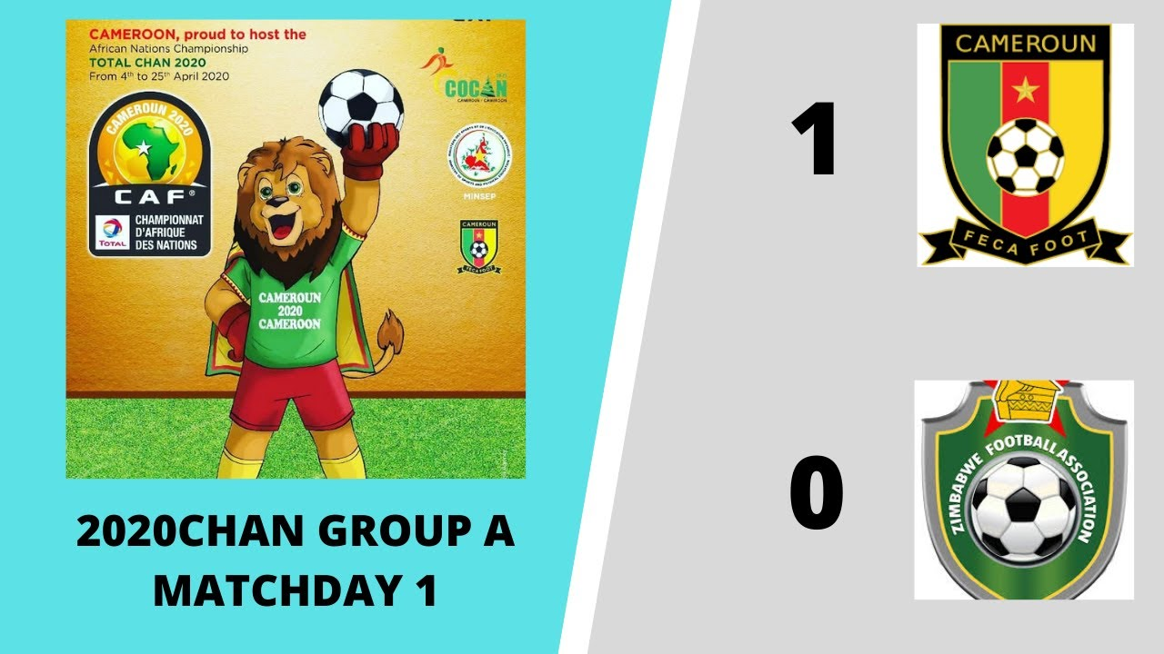CRTV - 2020 CHAN MATCH DAY 1 - GROUP A - 2nd HALF - (CAMEROON 1 # 0 ZIMBABWE) - 16th January 2021