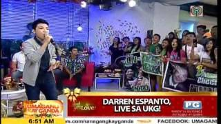 "Darren Espanto Live on UKG- ""This Is Only The Beginning"" (11-20-2015)"