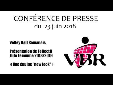 Conférence du 23 06 2018   Présentation effectif du Volley Ball Romanais   Saison 2018 2019