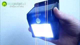 Cat - solarna lampa 4 LED z czujnikiem ruchu do domu i ogrodu od Ecogadget.pl
