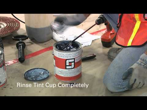 How to create a black concrete floor with LITHOCHROME® Chemstain