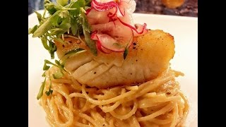Pan-seared Halibut With Coconut Alfredo