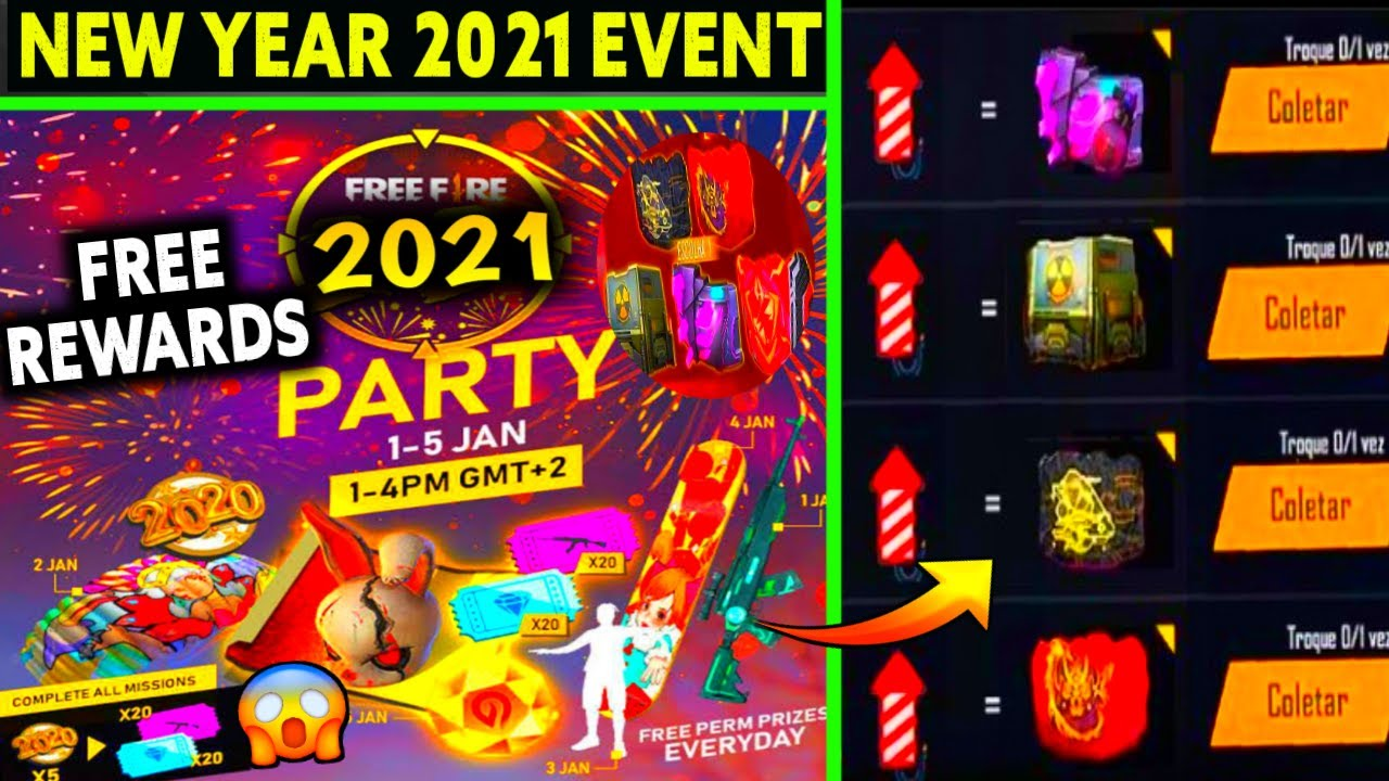 Free Fire New Year Event 1 January New Year Event Freefire Free Fire New Event Ff New Event Youtube