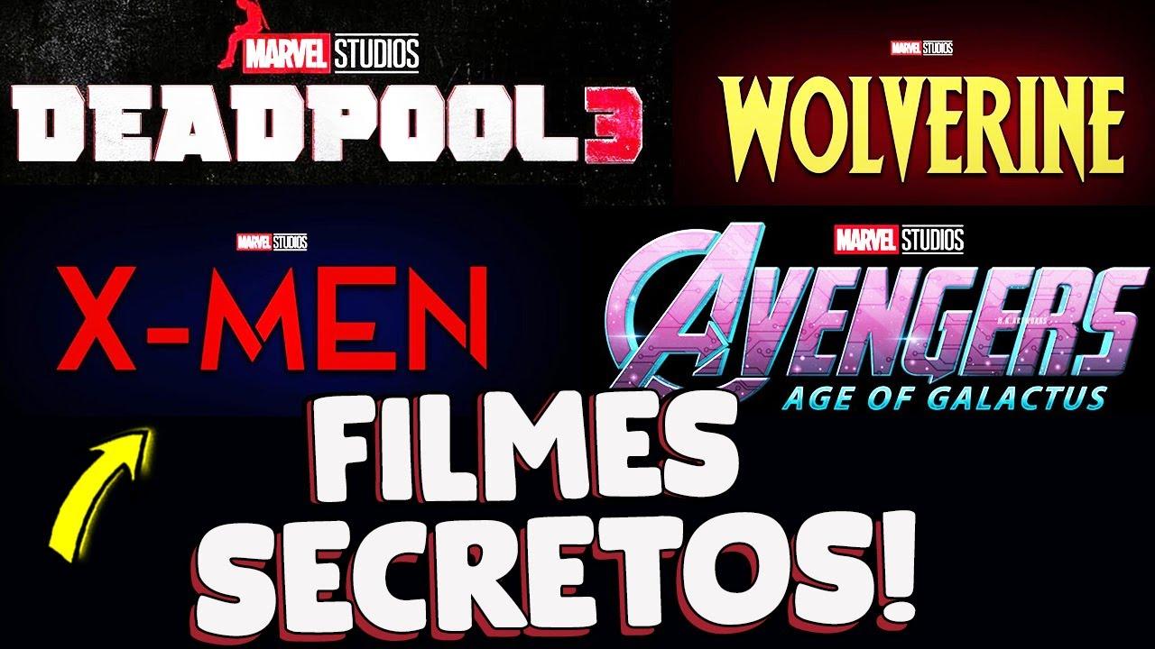 ANUNCIO! 12 NOVOS FILMES DA MARVEL SECRETOS! VINGADORES 5, DEADPOOL 3, WOLVERINE E MAIS