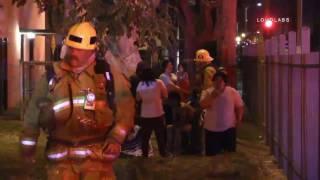 55 St Injury Fire / South LA   RAW FOOTAGE