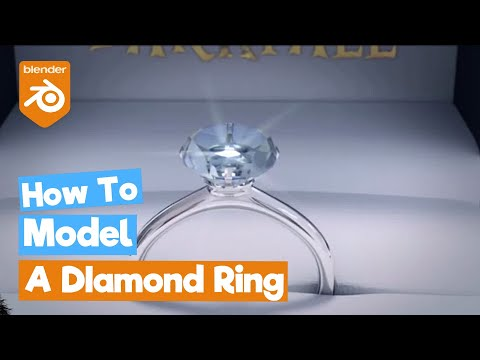Blender Tutorial: How to make a Diamond Ring