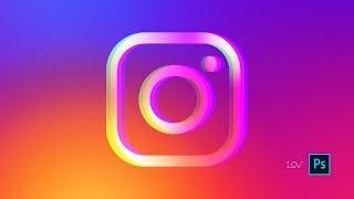 Векторная графика в Photoshop / Лого Instagram / Автоматизация сохранения в правильный EPS