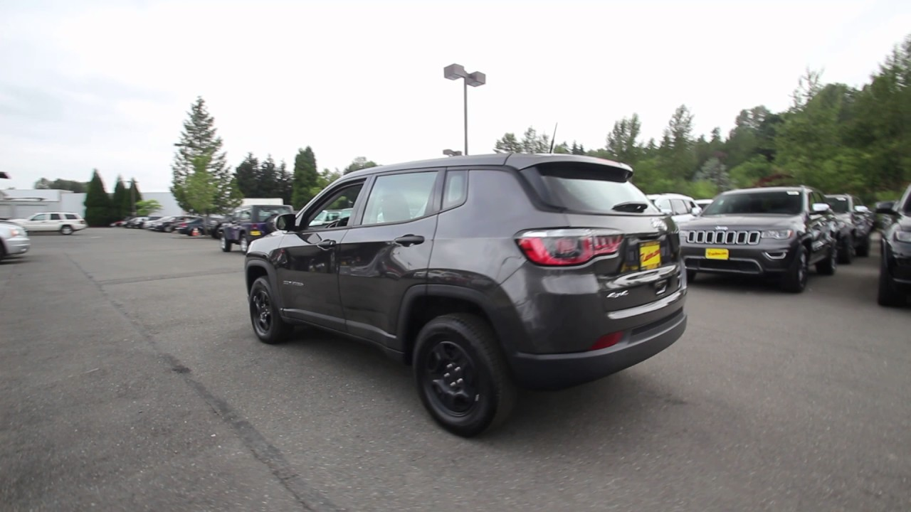 2017 Jeep Compass Sport 4x4 Granite Crystal Metallic