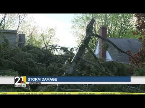 Storm damage in Boardman, OH