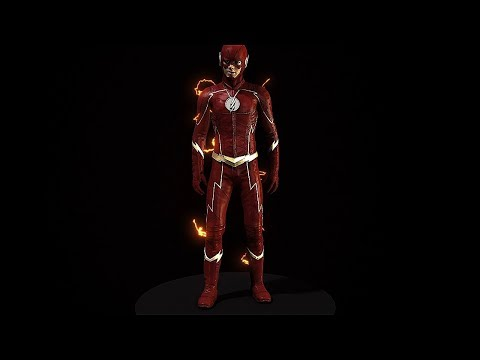 CW The Flash 3D Model and Rig Update Season 4 - Reborn. Recharged.