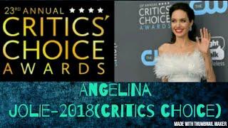 Critics choice award 2018 - Angelina Jolie