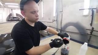 Как красить жидкой резиной Rubber paint часть 3 - Замешивание и покраска первых слоев