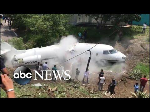 See Americans' Private Plane Break in Half!