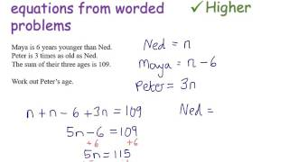 Forming and solving equations from worded problems | Foundation and Higher GCSE | JaggersMaths