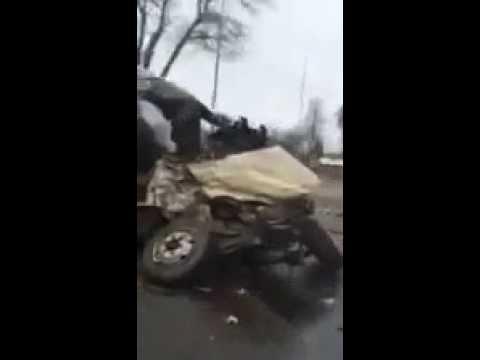 авария на трассе Санкт-Петербург – Невель (Псковск