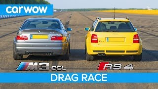 BMW M3 CSL vs Audi RS4 B5 - DRAG RACE, ROLLING RACE & Review