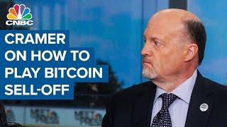Jim Cramer on how investors should handle bitcoin's weekend plunge