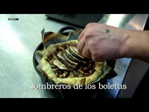 Tarte Tatin grilled Boletus - Tarte Tatin de Boletus a la brasa  - Hornos Brasa - Josper