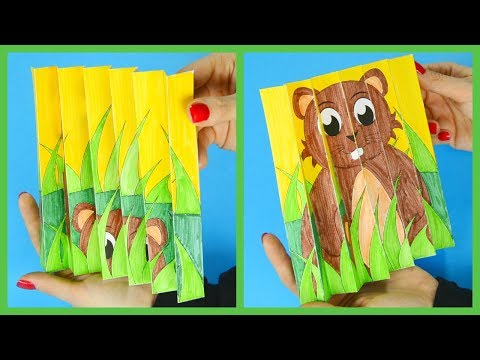 Agamograph Groundhog Day Template Paper Crafts For Kids - Easy Groundhog Day Activity For Kids