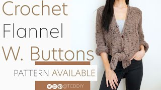 Crochet Basket Weave Top with Buttons | Pattern & Tutorial DIY