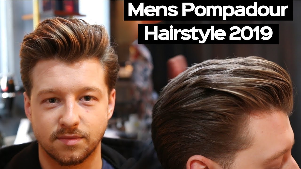 Mens Haircut 2019 - Pompadour Hairstyle Tutorial