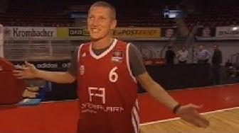 Basketball-Star Schweinsteiger - Shoot-Out gegen Hamann - Bayern München  - BBL - SPORT1