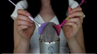 ASMR 💜 Brushing the Mic (No Talking)