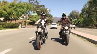 Ari and Zack Say Goodbye to Motorcyclist