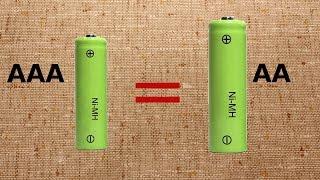 Вместо  АА - батарейки ААА как родные