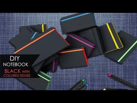 DIY Notebook  Nero con bordi colorati | Black with colored edges #1