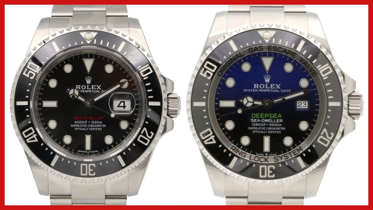 Niesamowite NEW 2018 Rolex Sea-Dweller 43mm vs 2018 Deepsea D-Blue, James PR57