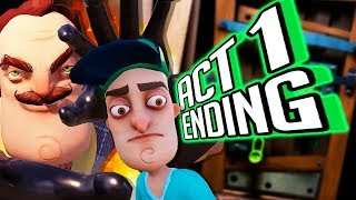 Hello Neighbor ACT 1 ENDING 🌟TRY NOT TO CRY... THE NEIGHBORS HUGE MISTAKE!🌟 (Full Gameplay Part 1)