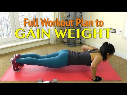 workout plan to gain weight for women  youtube
