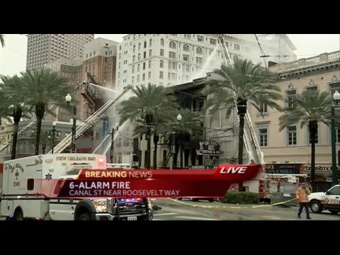 Canal Street Fire live coverage a m  news, part 2, 1 27 16