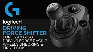 Logitech Gaming Driving Force Shifter Unboxing & First Look! (For G29 & G920 Racing Wheels)