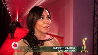 Simone thomalla im interview bei der goldenen kamera 2015.bei 50. verleihung von hÖrzu treffen sich deutsche promis und internationa...