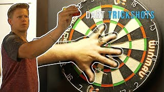Dart & Card Throwing Trick Shots | Rick Smith Jr.