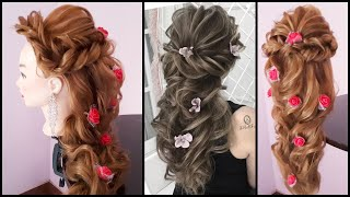 Messy Layered Hairdo For Wedding || Layered Hairstyles || Hairstyle For Thin Hair || Prom Hairstyle
