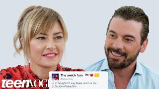 Riverdale's Skeet Ulrich and Mädchen Amick Compete in a Compliment Battle