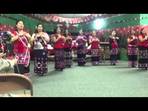 Lahu song: Xmas dance @GLCC 12-25-2012