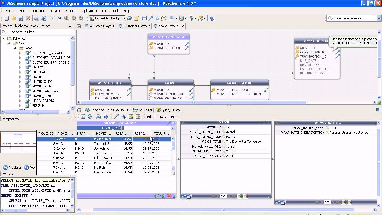 Er diagram sql database tool dbschema youtube ccuart Choice Image