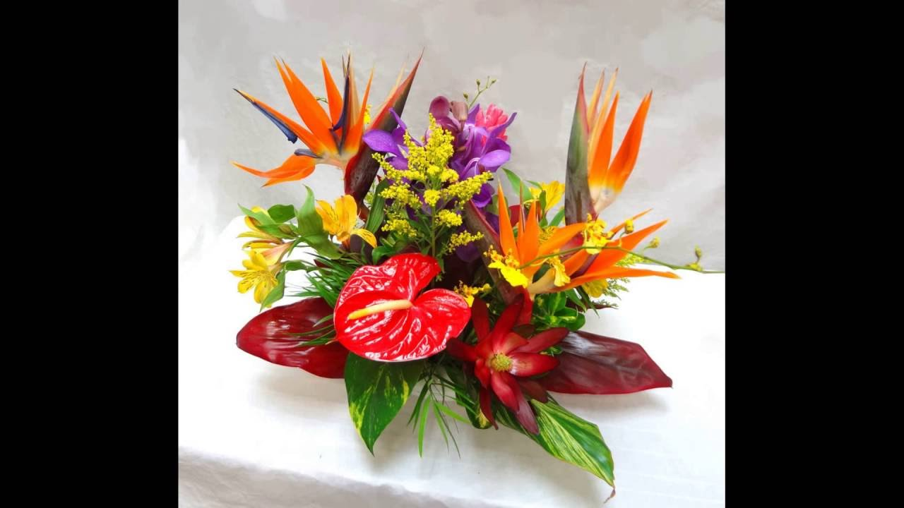 Birds Of Paradise Flower Arrangement Youtube