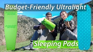 9a2304235 Ultralight Budget-Friendly Hikenture Sleeping Pad review and Comparison to  the Quechua Ultralight