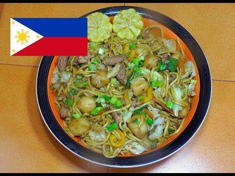 Pancit Canton with Fish Balls & Kikiam - Filipino Recipes - Tagalog Videos - Pinoy Noodles